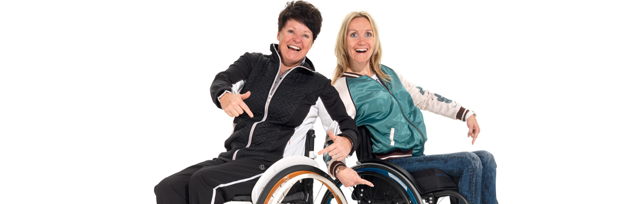 With the lightest wheelchair wheels in the world everyone starts smiling!